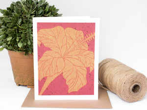 Hibiscus Note Card Set - Floral Cards - Handmade Cards - The Imagination Spot - 1