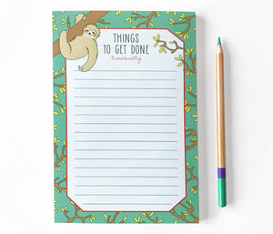 Sloth Notepad - The Imagination Spot
