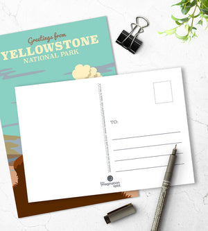 Yellowstone postcards - U.S. National Parks