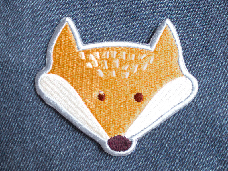 Iron on Patch - Fox Patch - Embroidered Patches - The Imagination Spot - 1