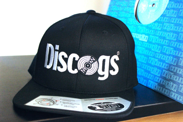 Discogs branded snapback hat