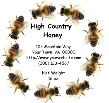 Honey/Maple Circle Sheet Labels