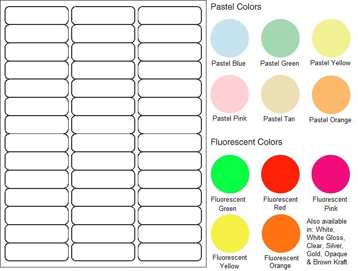 "Standard Register Sheet Labels #505 - 2.625"" x 0.75"" - Blank Sheets"