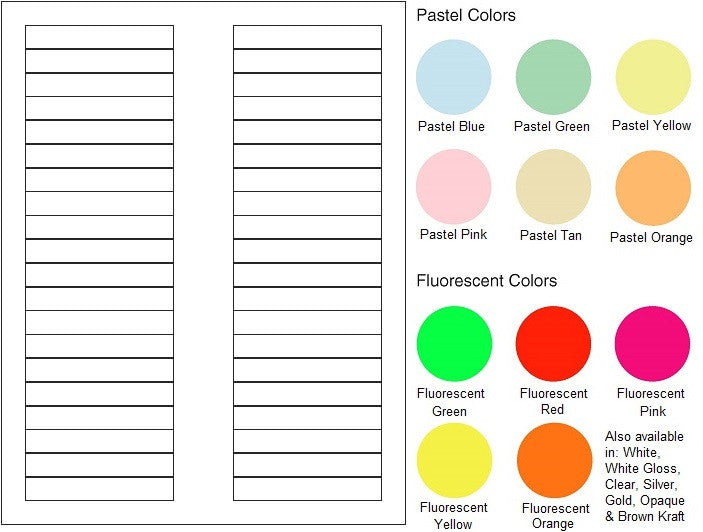 "Multipurpose Sheet Label #832 - 3.125"" x 0.5"" - Blank Sheets"