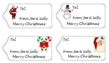 Children's Gift Tag Labels