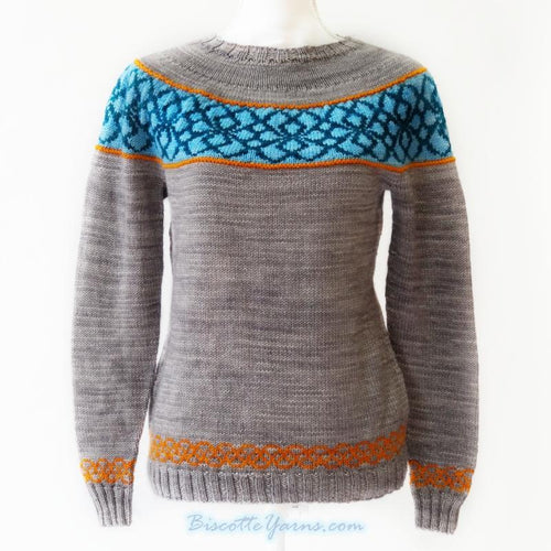 Knitting pattern ♥ Maelstrom round-yoked pullover