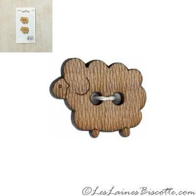 buttons fashion knitting accessories wooden sheep