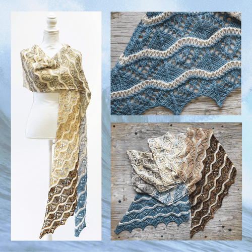 Vague de couleurs Shawl Pattern