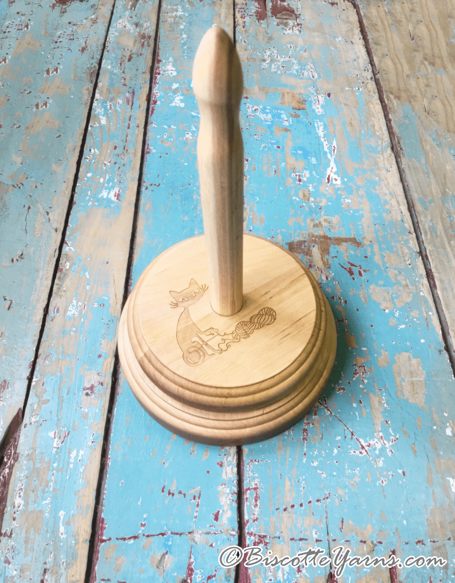Biscotte's wooden yarn butler - Handmade Exclusively for Biscotte Yarns