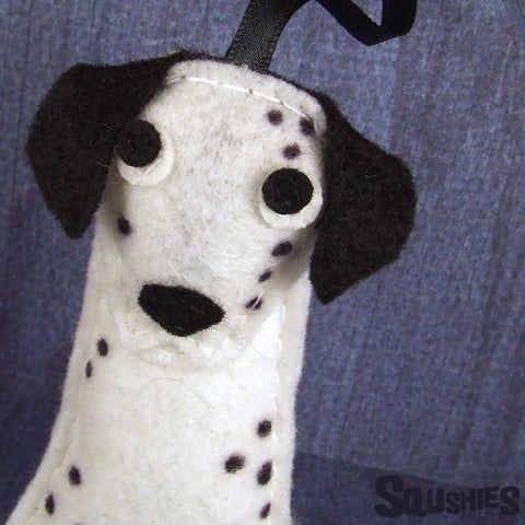 Felt Dog - Dalmatian Christmas Ornament
