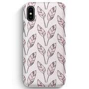 True Envy iPhone XS Max Case - Falling Leaves in Rose