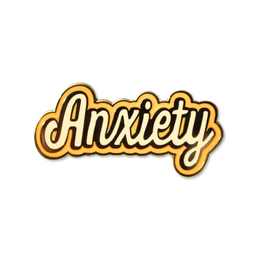 anxiety | enamel pin