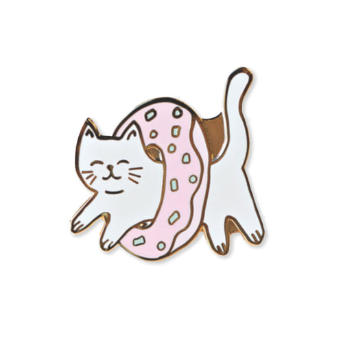 donut cat | enamel pin