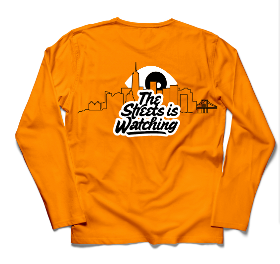 "PVT. ""The Streets Is Watching"" Long Sleeve (Orange)"