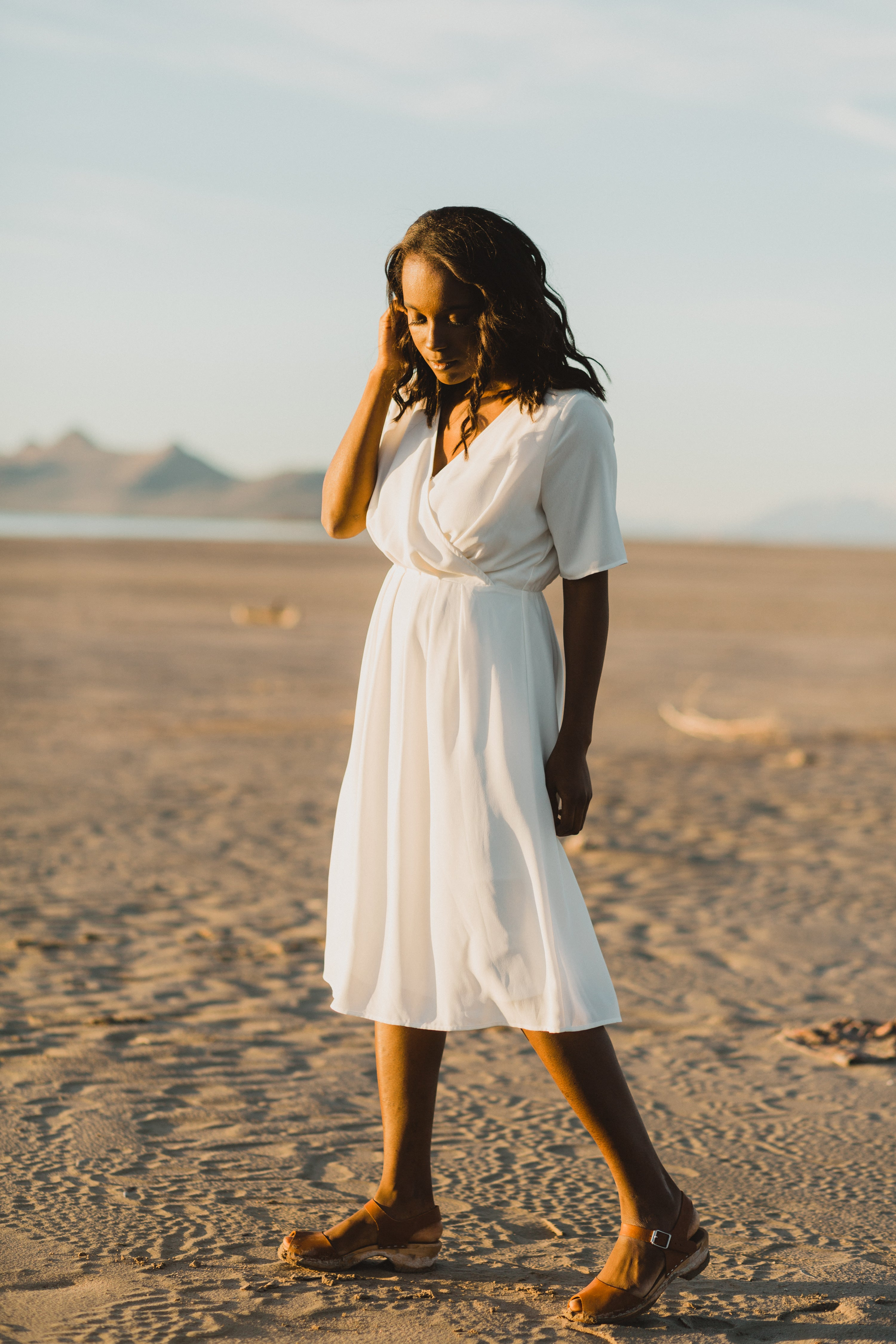 Piper & Scoot: The Bliss Pleated Dress in White