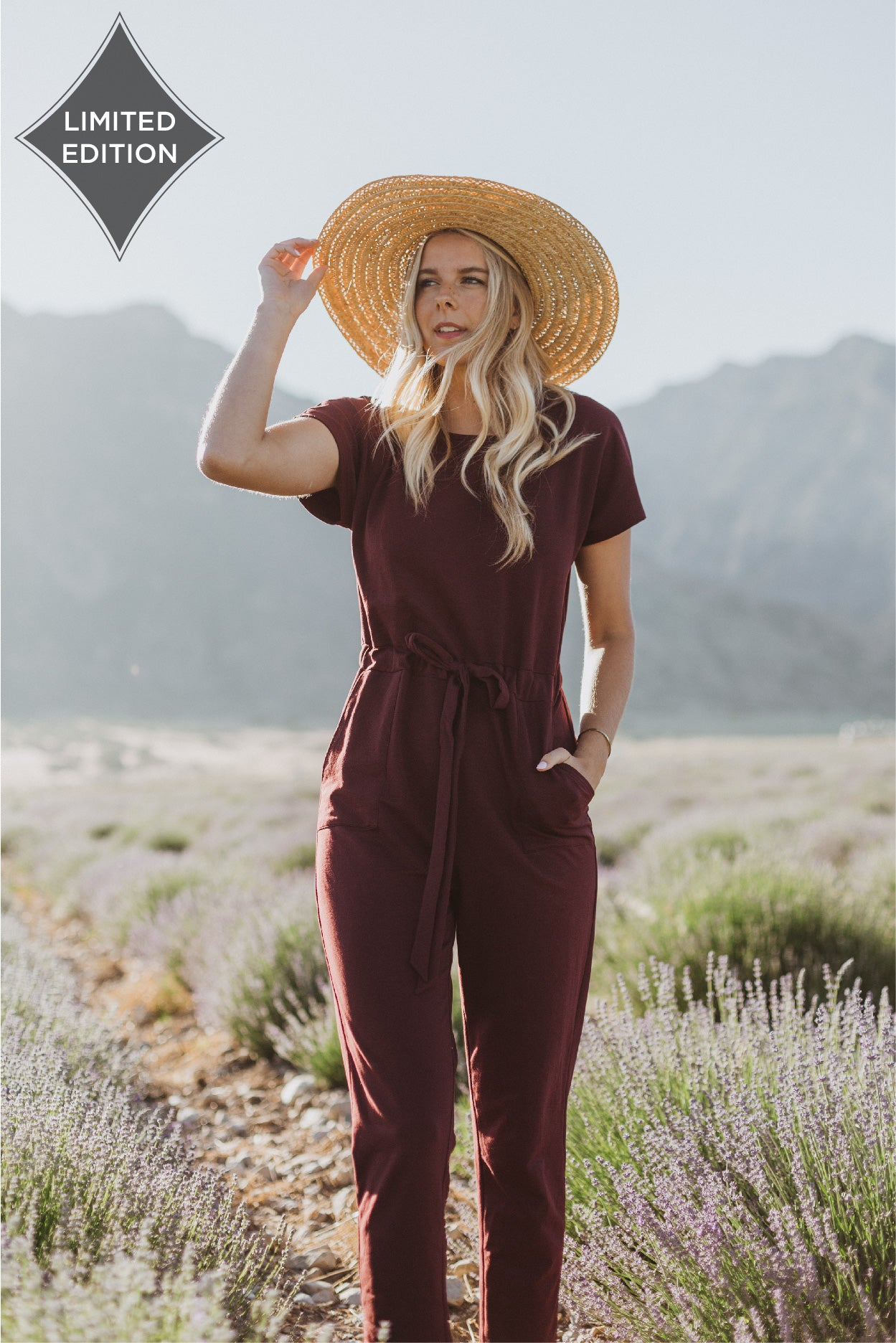 Piper & Scoot: The Bianca Cinch Jumpsuit in Plum (PREORDER)