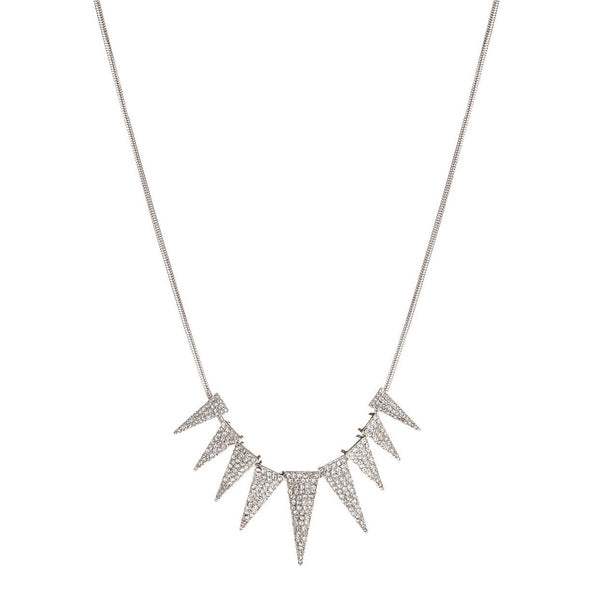 A.B.S.- BY-ALLEN-SCHWARTZ-Crystal -Spike-Necklace