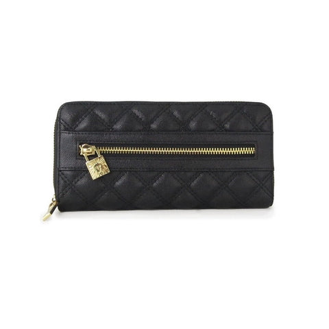 Anne Klein Shimmer Down Black Quilted Wallet