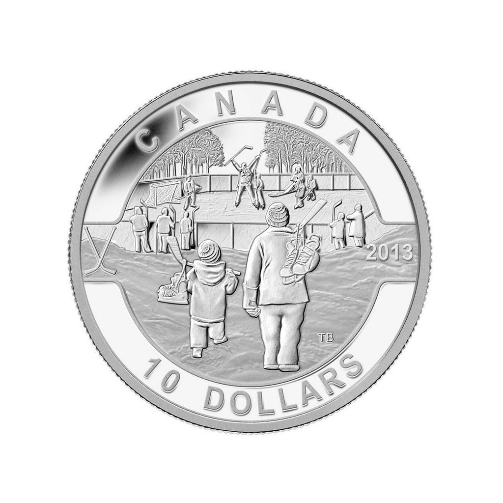 Canadian Hockey Fine Silver Coin - Front