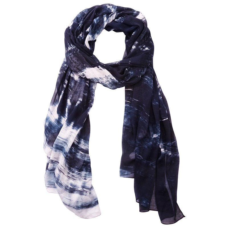 Front Row Society Burned Scarf In Charcoal