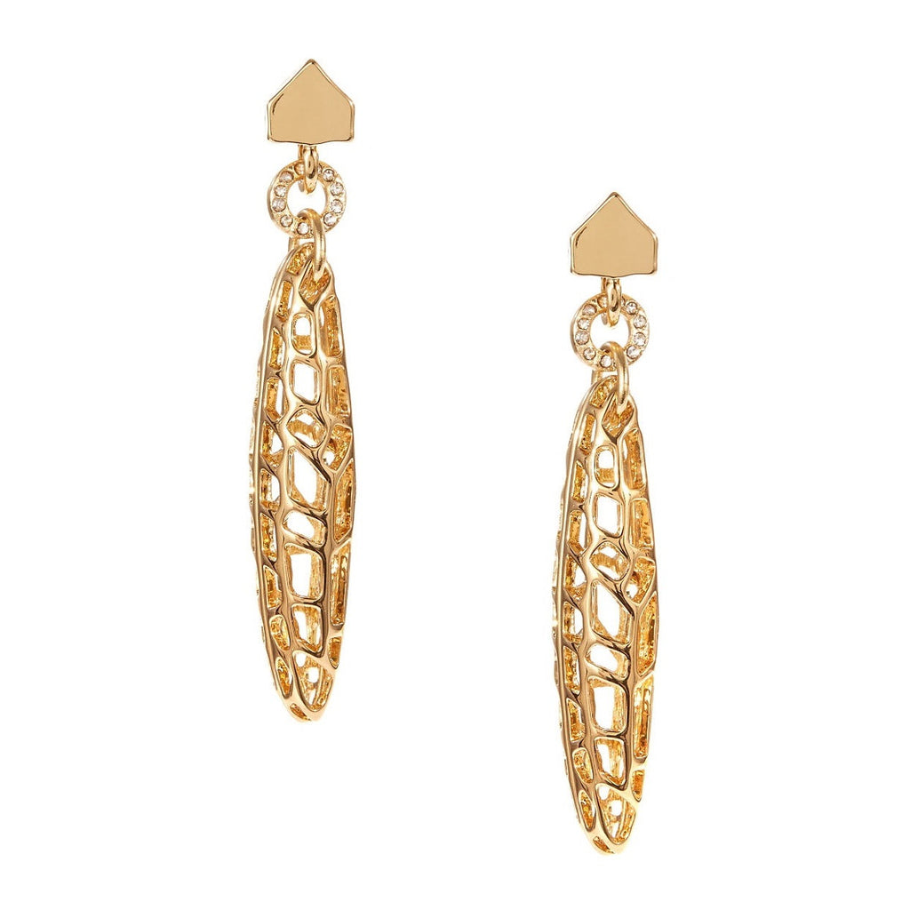 Kara Ross Gold Plated Cut out Earrings