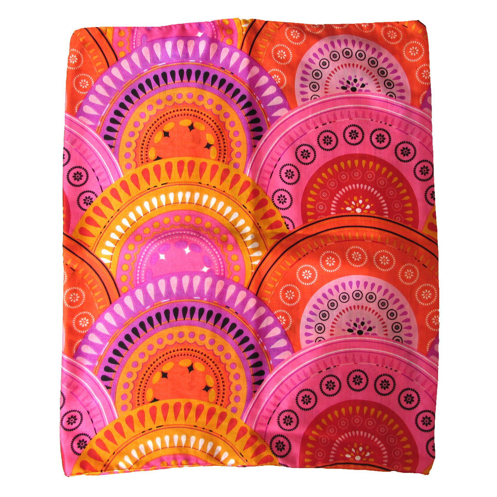 Echo Orange and Pink Printed Scarf Add fruity hues to you look