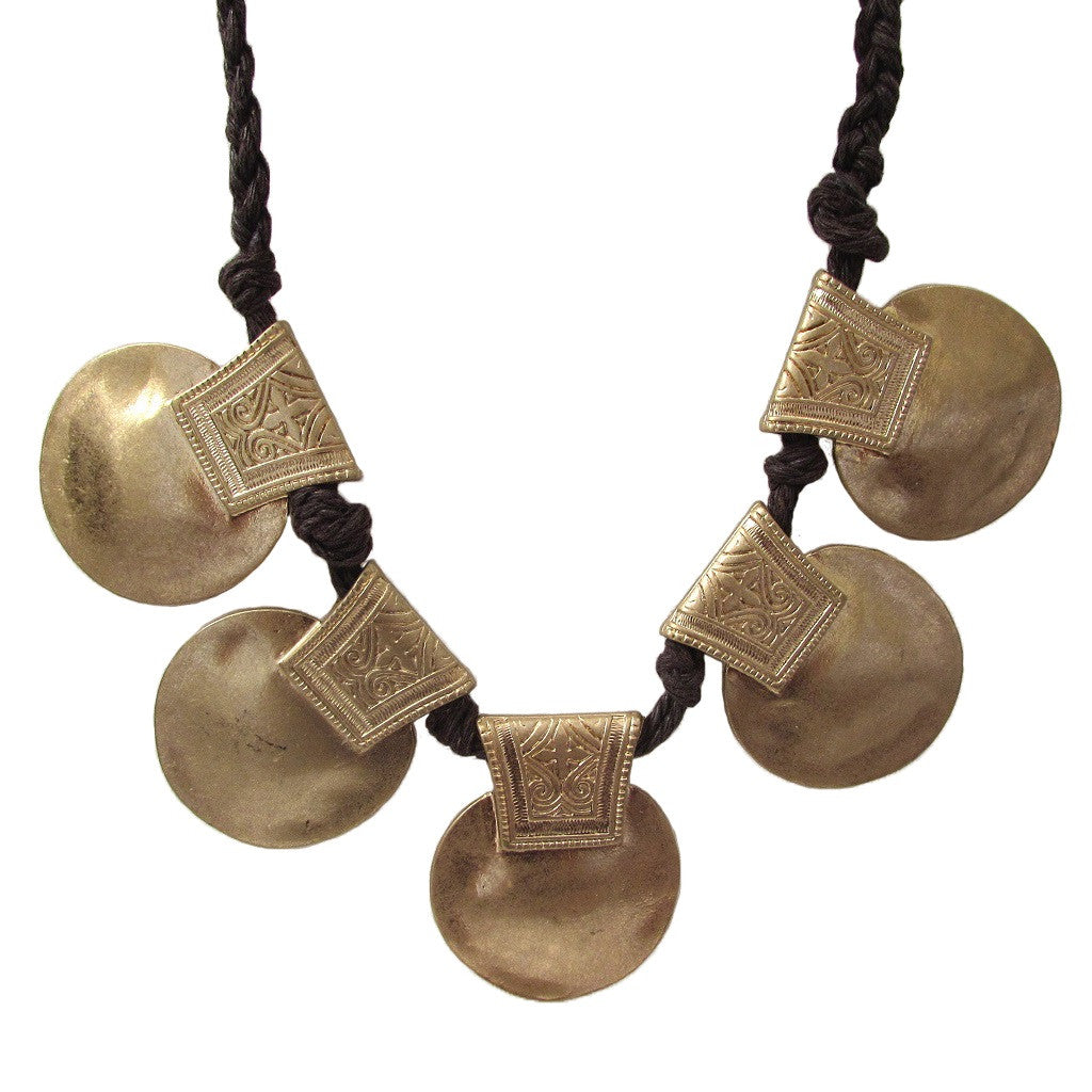 Tribal Disc Necklace
