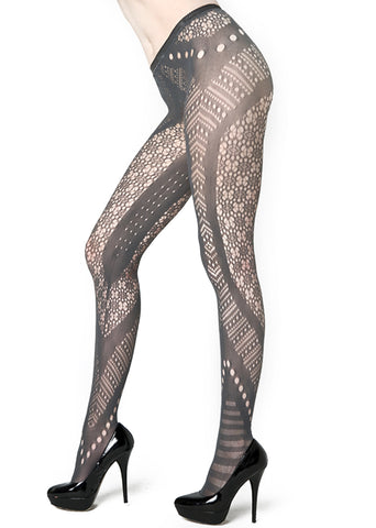 Midnight Floral Lace Body Stocking