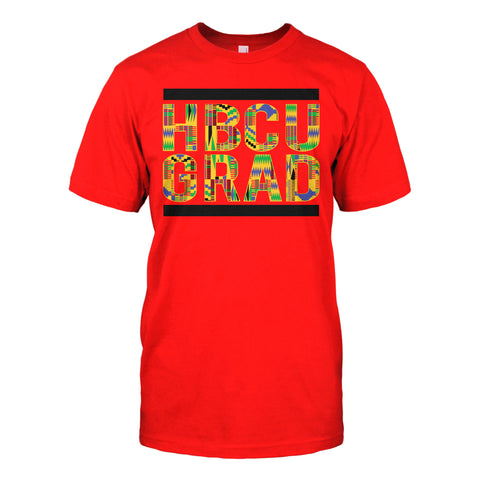 HBCU GRAD | Kente Cloth 2 | Tshirt - Red