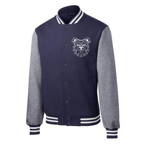 Embroidered Patch Navy Letterman Jacket