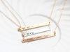 Engraved Bar Necklace | Thin Bar