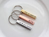 Engraved Keychain | Silver, Brass, Copper