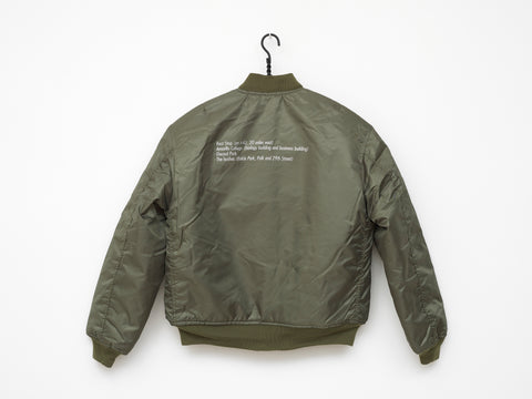 Tom Burr | Green Bomber Jacket (2019)