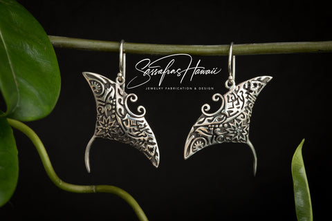 Aloha Manta Ray Earrings