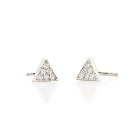 Pave Triangle Studs (More Metals)