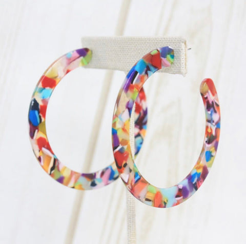 XL Rainbow Hoops