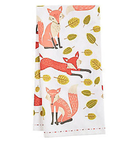 If you like tea and foxes these fox Tea Towels are perfect for you,  they are cute little foxes faces on the towels and have leaves.