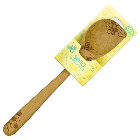 "Little Red Hen-Talisman Desighns-Solid Beechwood Corner Spoon ""Honey Bee"""
