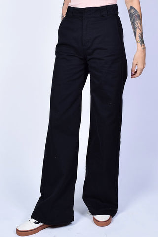 Black Wide Leg Work Pants by Dickies Girl