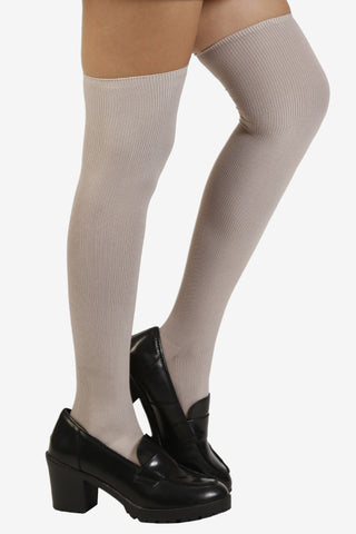 Mouse Grey Thigh Highs