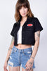 Black Cropped Work Shirt by Dickies Girl