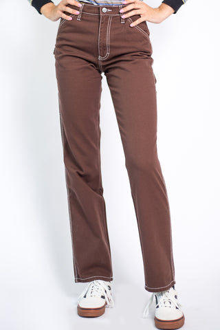 Chocolate Relaxed Carpenter Pants by Dickies Girl