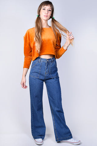 Eda Wide Leg High Waist Denim