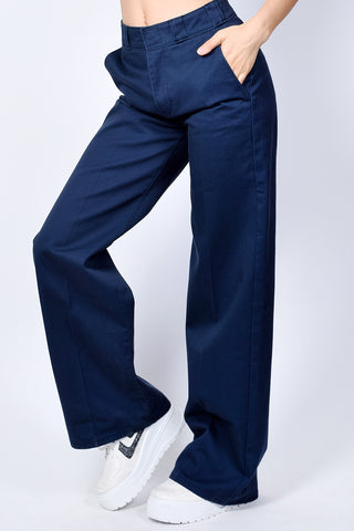 Navy Wide Leg Work Pants by Dickies Girl