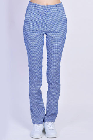 Luciana Printed Trousers - Blue