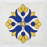Flower Diamond blue 18x18 cushion