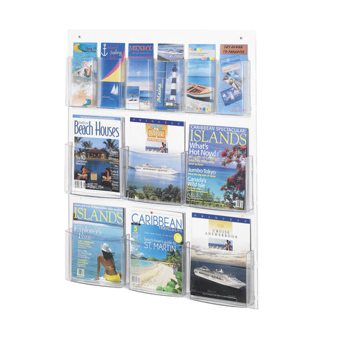 Clear2c™ 6 Magazine and 6 Pamphlet Display