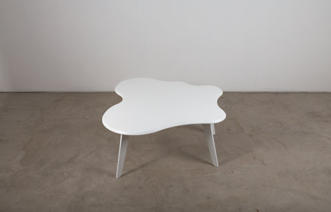 White lacquered cloud table