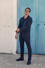 Navy Ocean Skinny Fit Trousers