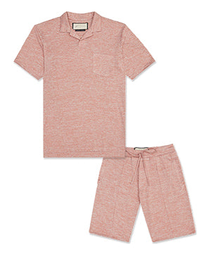Pink Lake Polo and Short Twinset